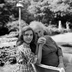 """Patty Duke and Helen Keller during filming of """"The Miracle Worker"""""""