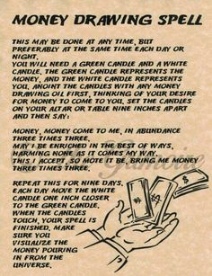 Money drawing spell