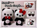 Kawaii Panda Couple..Korea,  Dolls, cute doll, for girls, girly, kawaii, korean doll, dolli, toys for girls,