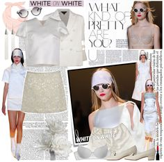 """White on White"" by bullygrrl ❤ liked on Polyvore"