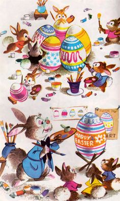 Vintage Easter- look at those cute powder puff tails ♥
