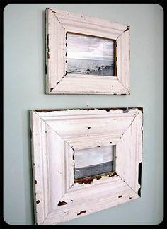 distressed frames