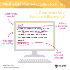 What might your out-of-office look like... Insights Discovery Sunshine Yellow Colour Energy