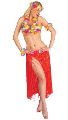 1a5d651587d Hawaii-inspireret sæt i rødt voksen, køb Kostumer til voksne på Vegaoo.dk