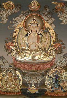 Avalokiteshvara paz - fé - espiritualidade - esperança - amor - energia - oração - meditação - reflexão -  conhecimento