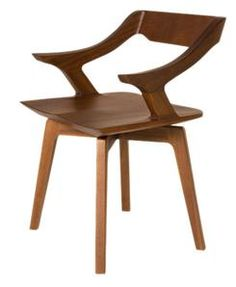 chair with arms and frame in solid canaletta walnut seat in solid rh pinterest com