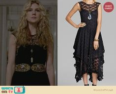 Misty's black lace dress on American Horror Story. Outfit Details: http://wornontv.net/26609 #AHSCoven #fashion