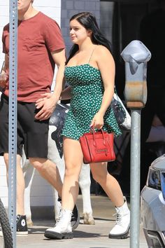 Ariel Winter looked simply adorable wearing a green romper while out getting some shopping done with boyfriend Levi Meaden look Ariel Winter's Hottest Mini Dress Looks — See Pics Ariel Winter Hot, Arial Winter, Girls In Mini Skirts, Mini Dresses, Curvy Girl Outfits, Most Beautiful Indian Actress, Curvy Women Fashion, Winter Looks, Beautiful Celebrities