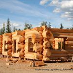 Scribe Fit Staggered End Flared Character Butt Western Red Cedar Log Home Cabin Style Homes, Log Cabin Homes, Log Cabins, Tool Storage Cabinets, Log Cabin Designs, Cedar Log, Timber Frame Homes, Western Red Cedar, Indoor Air Quality