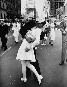 The best kiss ever photographed.