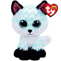 899f23b0160 TY Beanie Boo Large Piper the Chevron Fox Plush Toy Giant Beanie Boos