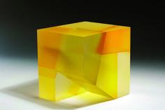 "jiyong lee. cube segmentation-missing block series, 8.75""h x 8.5""w x 7.75""d, ,2011"