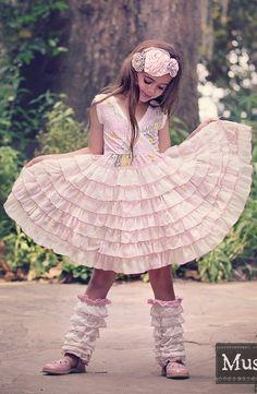 Mustard Pie Clothing - Noel Dress in Sweet Pink