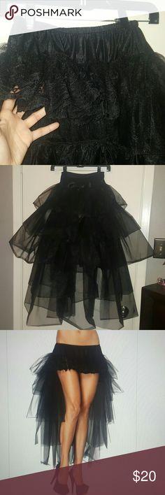 Long tulle bustle skirt 5layer bustle skirt Leg Avenue Other