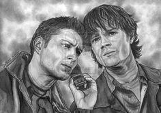 Brothers by lupinemagic.deviantart.com on @deviantART #Supernatural #SPN