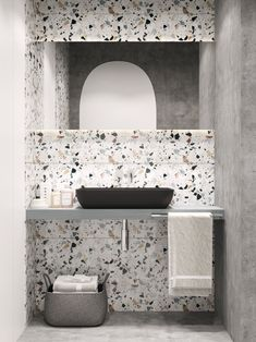 When it comes to flooring, Terrazzo is making a huge comeback this season. Like a blast from the past, the striking shades of Terrazzo flooring are back in fashion, leaving their mark of design on floors everywhere Bathroom Tile Designs, Bathroom Design Small, Bathroom Interior Design, Modern Interior Design, Bathroom Ideas, Studio Interior, Bath Design, Contemporary Interior, Interior Architecture