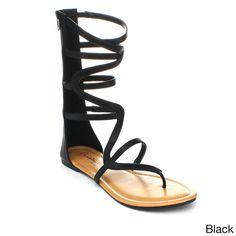 297fbbf1f4b DBDK EMILY Women s Mid Calf Gladiator Sandals with Back Zipper