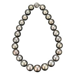 Tahitian Pearl Necklace-biggest pearl is 17.9 mm!