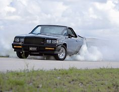 El Camino with a Grand National front clip (and motor). Grand National For Sale, Grand National Gnx, 1987 Buick Grand National, National Front, Best Luxury Sports Car, Luxury Cars, Flower Car, Gm Car, Classic Chevrolet