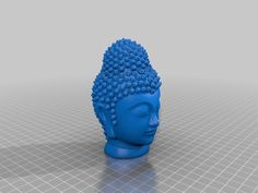 A quick restored version of the scan by prk_mek Added a stand, restored hair, redifined/smoothed face, cloths. It ain't perfect but it's 3d Printing Diy, Buddha Head, Hair Restoration, 3d Printer, Statues, Cloths, Internet, Printed, Face