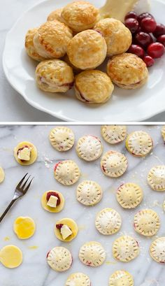 Cranberry Baked Brie Puff Pastry Bites | Click Pic for 30 Easy Holiday Appetizer Recipes for Party | Easy Christmas Appetizers for a Crowd