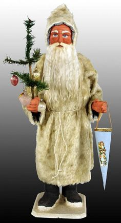1880's Santa Candy Container White Robe