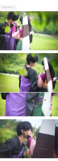sango y miroku, inuyasha, cosplay