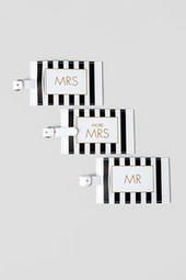 Adding to the honeymoon list! Mr. and Mrs. Luggage Tag Set