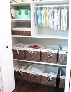 11 Genius Baby Closet Ideas to Make the Nursery Look Super Organized