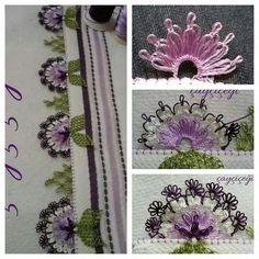 HUZUR SOKAĞI (Yaşamaya Değer Hobiler) Needle Tatting, Needle Lace, Bobbin Lace, Needle And Thread, Yarn Crafts, Diy And Crafts, Hand Embroidery, Machine Embroidery, Piercings