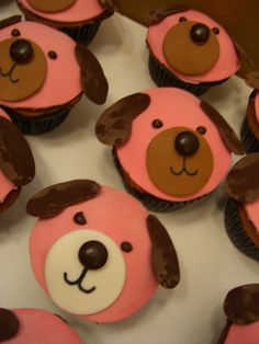 pink puppy cupcakes