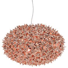 Bloom pendant lamp large, copper, by Kartell.