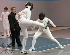 Epee fencing at the Dominick Open, April 27, 2013. Outside of Chicago, Illinois Fencers Club. stabbysox photo #1366