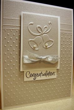 65 ideas wedding card ideas diy embossing folder for 2019 Wedding Cards Handmade, Greeting Cards Handmade, Love Cards, Diy Cards, Wedding Shower Cards, Wedding Congratulations Card, Engagement Cards, Wedding Anniversary Cards, Embossed Cards