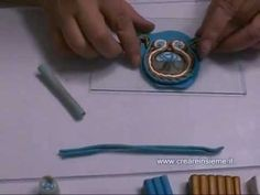 soutache video tutorial in Italian ♥ Soutache Tutorial, Macrame Tutorial, Beaded Embroidery, Hand Embroidery, Diy Jewelry Instructions, Couture Sewing, Soutache Jewelry, Clay Tutorials, Shibori