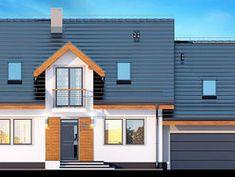 DOM.PL™ - Projekt domu DN KARMELITA BIS 2M CE - DOM PC1-47 - gotowy koszt budowy House Plans, Multi Story Building, Garage Doors, Exterior, Mansions, House Styles, Outdoor Decor, Modern, Home Decor