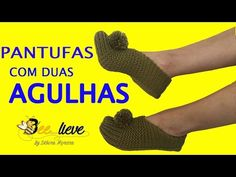 PANTUFAS MUITO SIMPLES DE TRICOTAR! - YouTube Knit Shoes, Crochet Slippers, Beautiful Patterns, 2 Colours, Youtube, Stitch, Knitting, Camera Phone, Crocheted Slippers