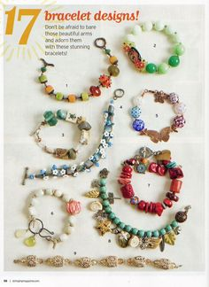 Red Coral Bracelet (lower right by Toni McCarthy: Stringing Summer 2010 Pour l'inspiration Jewelry Crafts, Jewelry Art, Beaded Jewelry, Jewelry Bracelets, Fine Jewelry, Jewelry Design, Jewelry Quotes, Jewelry Ideas, Jewelry Closet