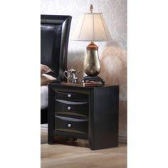 Coaster Company Briana Collection Nightstand, Black, Beige