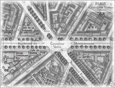 "Paris - Carrefour Vavin - 1926 from the novel ""The Magician of Montparnasse"" by Oliver Plaschka  Klett Cotta"