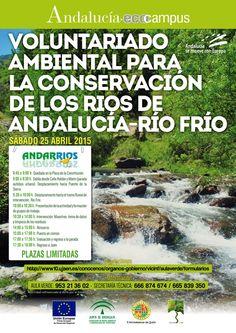 Jornada Andarrios 2015  http://www10.ujaen.es/conocenos/organos-gobierno/vicinf/andarrios-voluntariado-ambiental-en-los-rios-de-an