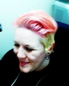 BLEACHLONDON Rose overtop bleached hair. September 2015.