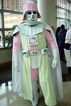 The lighter side of Darth Vader includes pink, white, yellow...and Hello Kitty!