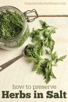 So this homemade herb salt is yummy, but the reason I REALLY like it is because it's a way to save all my garden-fresh herbs for later!