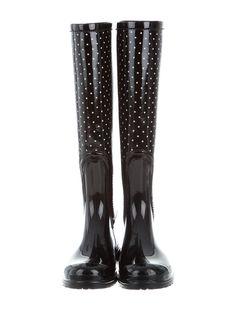 84bd641d573 Dolce   Gabbana Polka Dot Rain Boots - Shoes - DAG88304