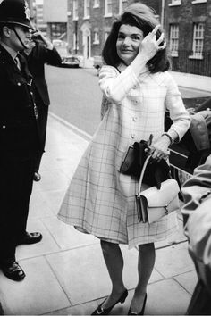 Jackie Kennedy outside her sister's Westminster home in London, England, April 4, 1966.