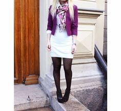 Dress: HM / Jacket: HM / Scarf: Pieces / Shoes: Esprit