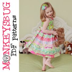 fairytale frocks and lollipops :: monkeysbug tee's, ruby ribbon twirl dress, girl, baby, toddler, girls dress, twirly, button, button-up, faux button, special occasion, boutique, ruffle, spring, fall, summer, church, birthday, party, wedding, sewing, ins