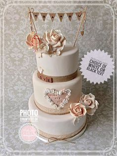 Vintage Style Wedding Cake Topper To Add That Unique Extra Special Touch