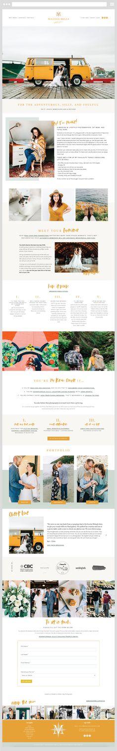 Custom website design by Creative for Maddie Mills Photography in St. Website Design Inspiration, Blog Design, Custom Website Design, Website Designs, Portfolio Website, St John's, Newfoundland, Wedding Planner, Creative